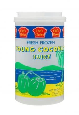 Chef's Choice fresh frozen young coconut juice diepvries jonge cocos drink