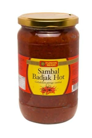 Flowerbrand sambal badjak hot 750 gram
