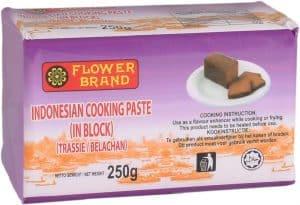 Flowerbrand trassie belachan Indonesian cooking paste 250 gram