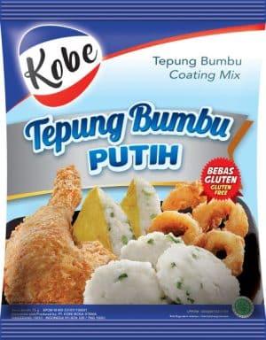 Kobe tepung bumbu Putih 75 gram coating mix bebas gluten free