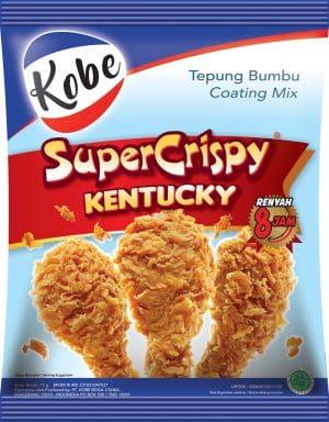 Kobe tepung bumbu coating mix super crispy kentucky renyah 8jam 75 gram