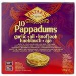 Patak's Garlic Pappadums 12x100 g