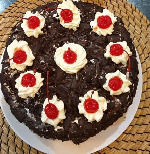 Pondan black forest homemade