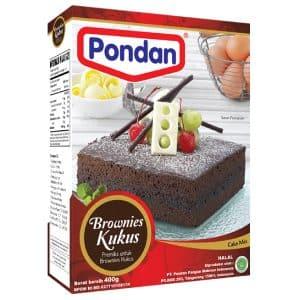 Pondan cakemix brownies kukus steam cake mix