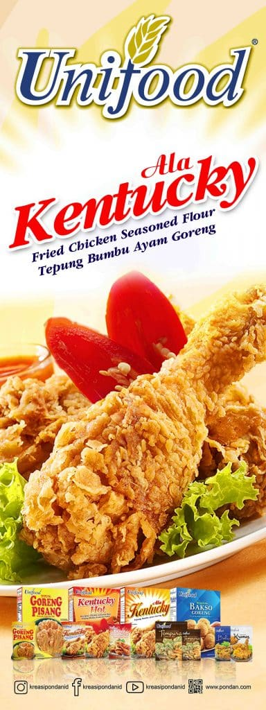 Unifood Kentucky fried chicken seasoned flour tepung bumbu ayam goreng banner