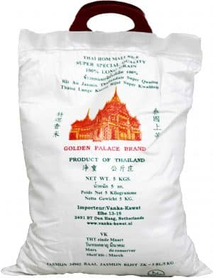 Vanka-Kawat Golden Palace Thai Hom Mali Rice jasmijnrijst 5x5kg