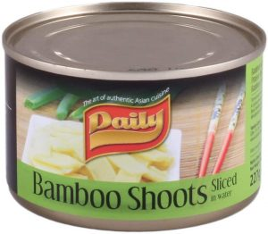 daily bamboo shoots sliced