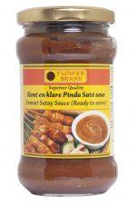 flower brand kant en klare kant-en-klare kant&klare pinda sate saté peanut satey sauce saus satesaus satésaus superior quality ready to serve