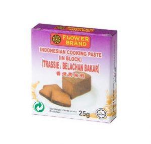 Flowerbrand trassie belachan Indonesian cooking paste 25 gram