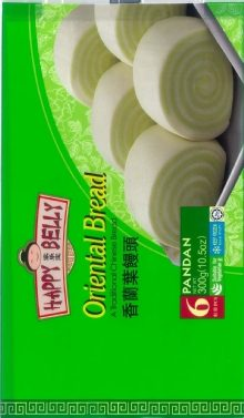 happy belly oriental bread pandan bun