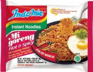 indomie mi goreng hot & spicy noodles