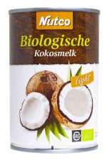 nutco biologische klappermelk light licht kokos kokosmelk cocosmelk klapper cocos melk milk halal 400ml