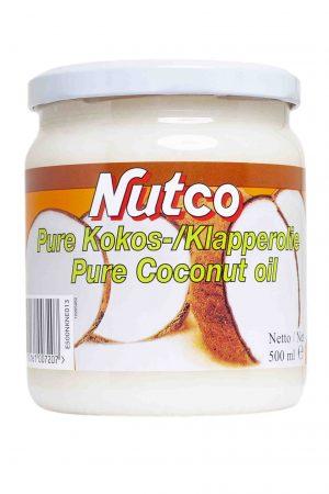 nutco pure cocos oil kokos olie kokosolie cocosolie klapperolie klapper 100% plantaardig zonder toevoegingen