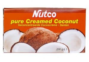 nutco pure creamed coconut santen geconcentreerde cocoscreme klappercreme klapper creme geperste cocosmelk kokoscreme kokosmelk