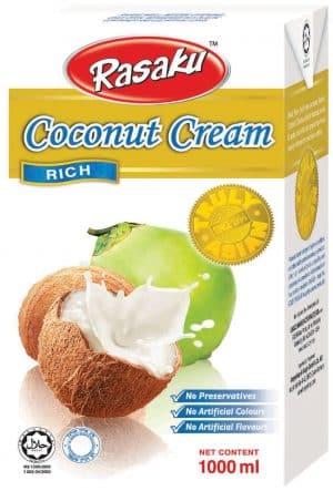 Rasaku kokosmelk cream 24% vet