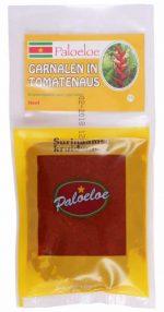Paloeloe Surinaamse kruidenmix garnalen in tomatensaus
