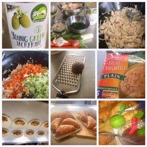recept roti paratha met vegan vulling