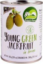Vegan Nature's Charm young green jackfruit in brine. Zoals u gewend bent is ook dit Nature's Charm product geheel natuurlijk, glutenvrij en Halal.