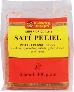Flowerbrand sate petjel instant peanut sauce 400 gram
