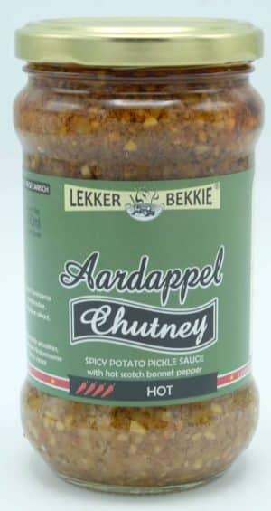 Lekkerbekkie aardappel chutney heet 290ml