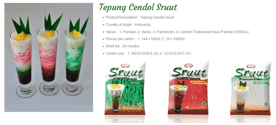 Mr Food tepung cendol tjendol sruut products