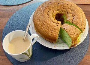 Pondan chiffon pandan cake homemade