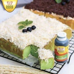 Koepoe Koepoe bolu pandan cheese layer cake