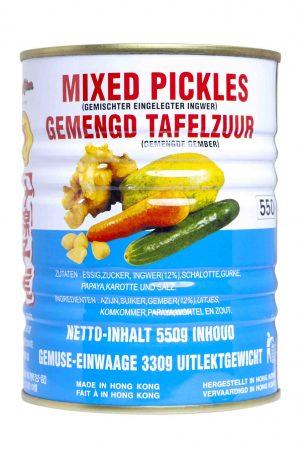 Mee Chun mixed picles gemengd tafelzuur blik 550 gram