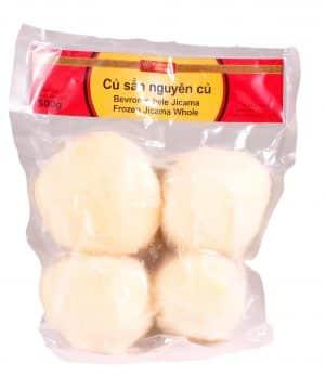 Flowerbrand diepvries jicama hele Vietnam Củ sắn nguyên củ frozen jicama whole 500gram