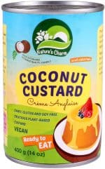 Nature's Charm Vegan coconut custard creme Anglaise can 400 gram