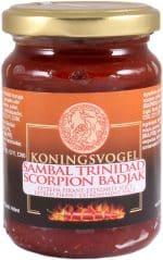 Koningsvogel sambal trinidad scorpion badjak 200g