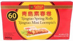 Flowerbrand tjingtao spring rolls mini loempia 900gram