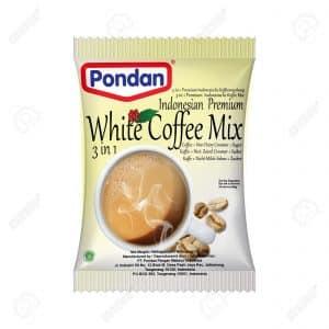 Pondan white coffee mix Indonesian premium 3 in 1