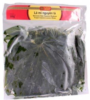 Flowerbrand bevroren hele cassave bladeren la mi nguyen la 200 gram