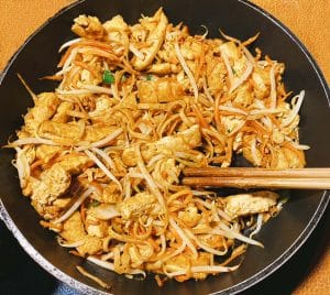 Flowerbrand noodles vegetarisch pan