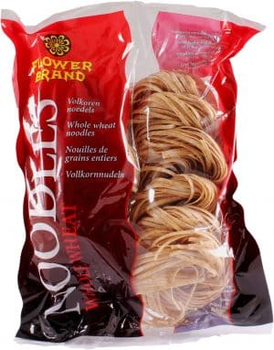 Flowerbrand volkoren whole wheat noodles 454 gram
