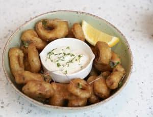 Natures Charm vegan calamari 425gram dish