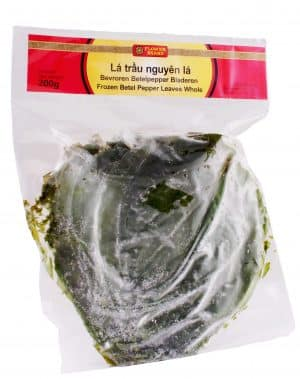 Flowerbrand bevroren betelpeper bladeren frozen betel pepper leaves whole la trau nguyen la 200 gram