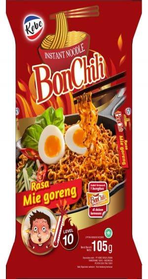 Kobe BonChili instant noodle mee goreng spicy level 10