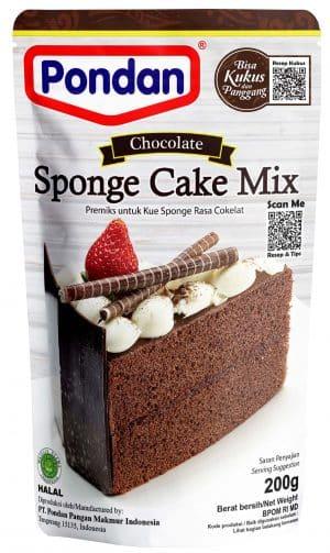 Pondan sponge cakemix chocolate cokelat 200g