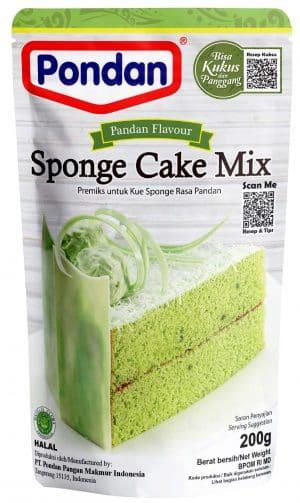 Pondan sponge cakemix pandan 200g