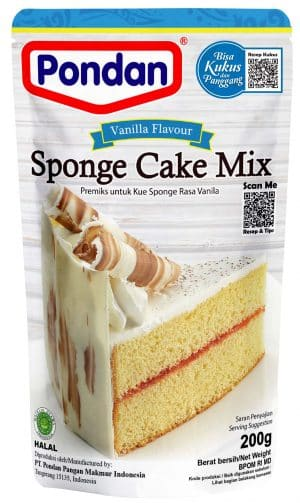 Pondan sponge cakemix vanilla vanille 200g